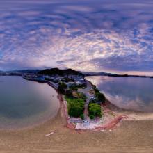 360度空撮写真